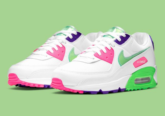 This Neon-Based Nike Air Max 90 Features See-Through Vinyl Swooshes And Tongues