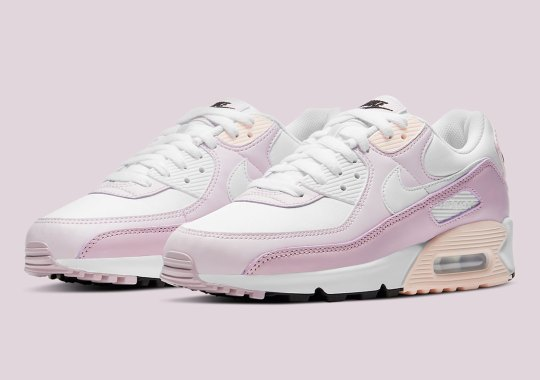 The Nike Air Max 90 Mixes Champagne With Light Violet