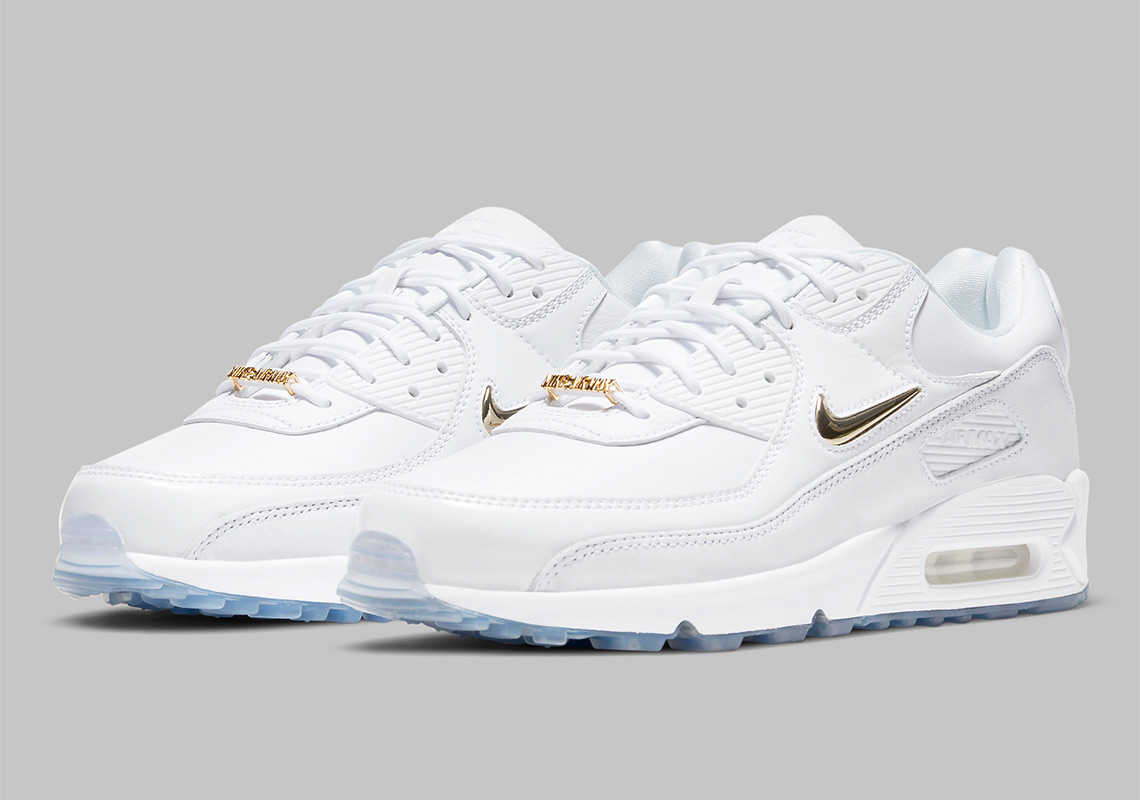 Nike Air Max 90 Pirate Radio White Gold CW4070-100 | SneakerNews.com