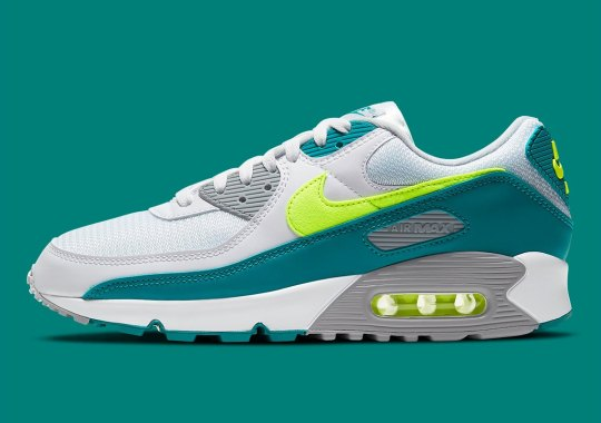 "The Nike Air Max 90 ""Spruce Lime"" Releases Tomorrow"