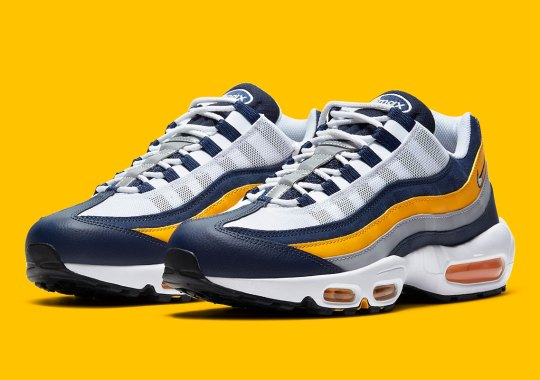This Michigan-Colored Nike Air Max 95 Reveals A Hint Of Logo Nostalgia