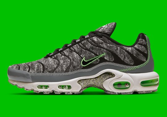 The Nike Air Max Plus Covered In Recycled Materials And Regrind Is Available Now
