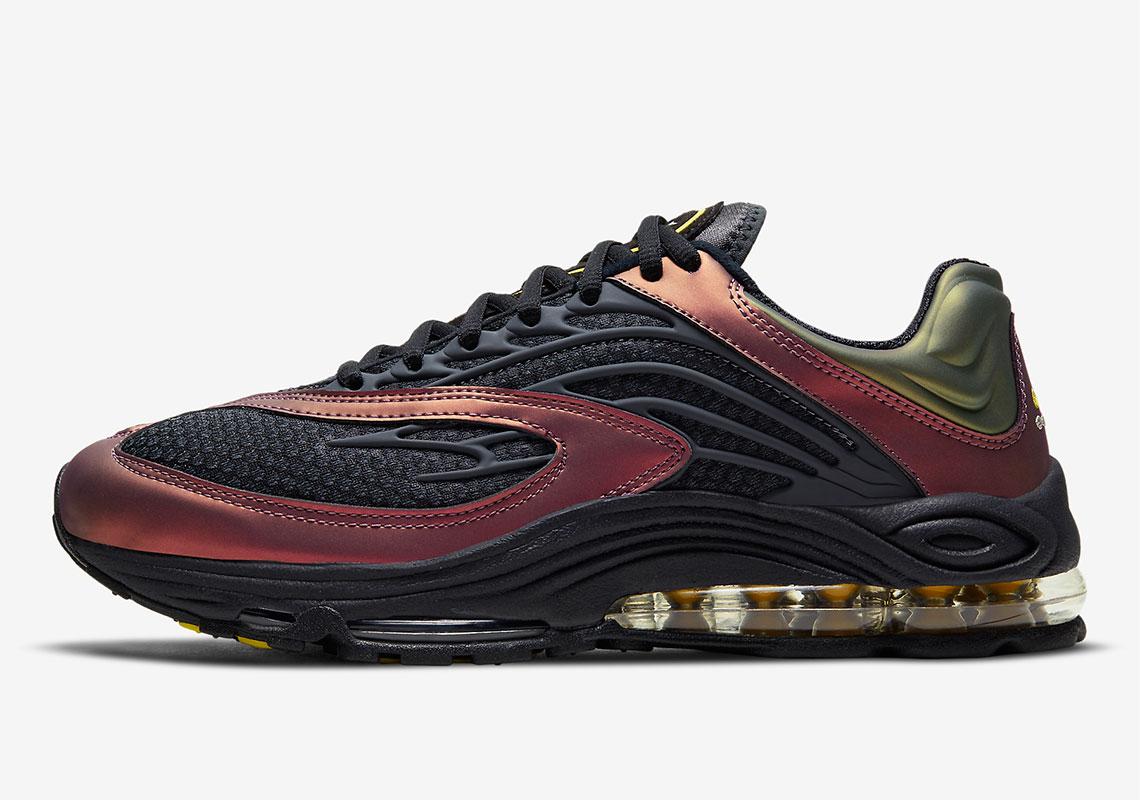 Nike Air Tuned Max Celery Saturn Red CV6984-001| SneakerNews.com