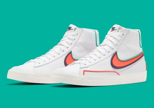The Nike Blazer Mid Infinite Boasts New Colorways With Bright Crimson And Blue Void