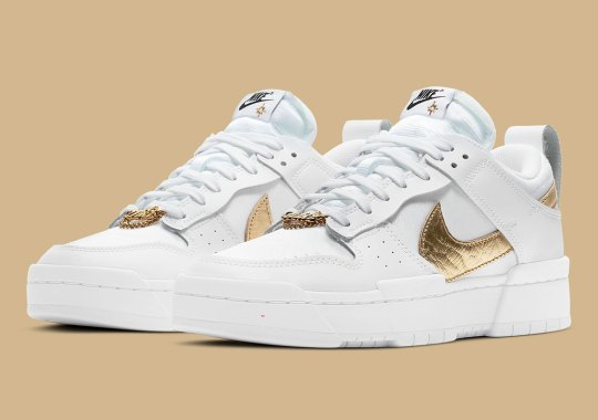 This Star-Studded Nike Dunk Low Disrupt Sees Gold Chains On Its Laces