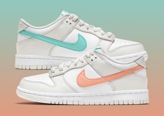 Nike Dunk Low GS Arrives With Mismatched Tropical Swooshes