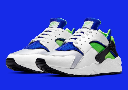 """Nike To Honor 30th Anniversary Of The Air Huarache With """"Scream Green"""" Re-release"""