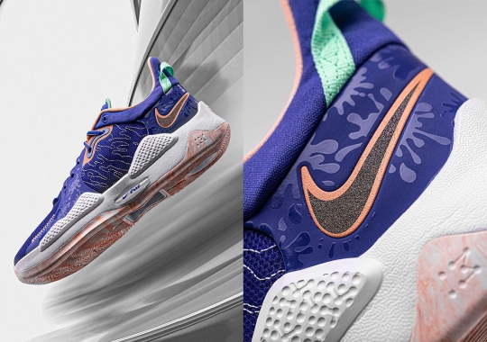 Upcoming Nike PG 5 In Lapis, Blue Void, And Crimson Bliss Revealed