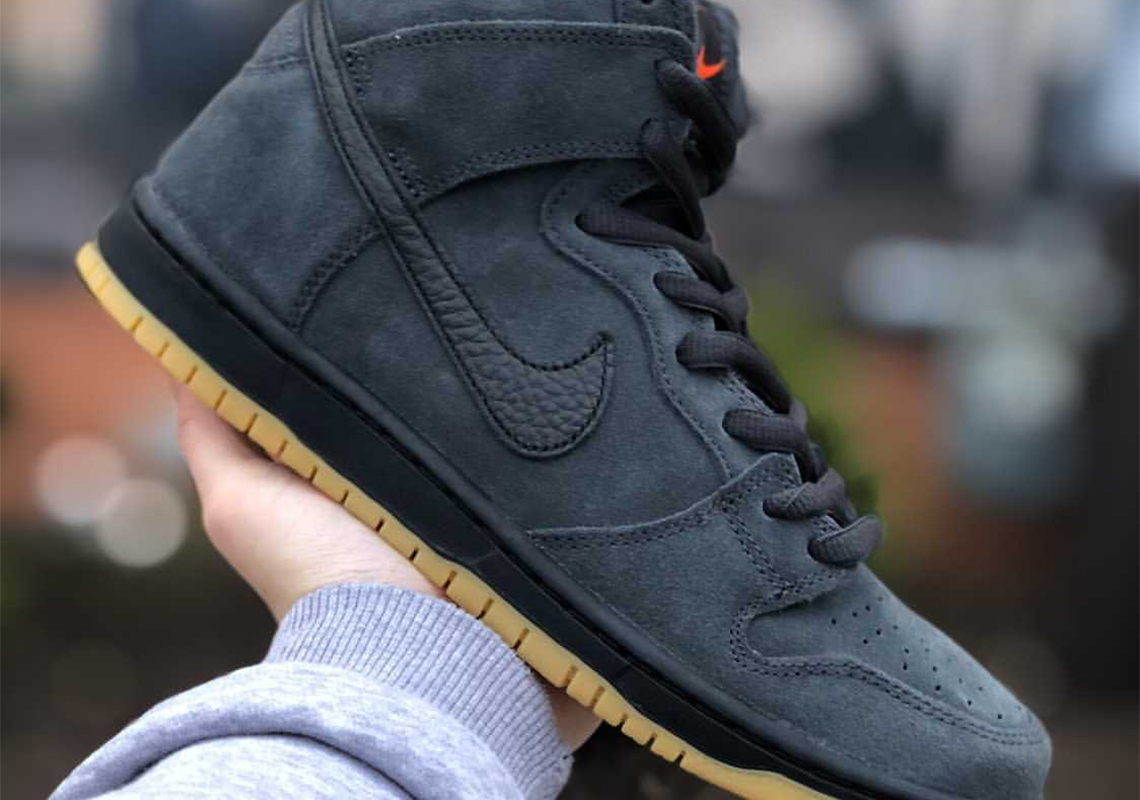 Nike SB Dunk High Orange Label Anthracite | SneakerNews.com
