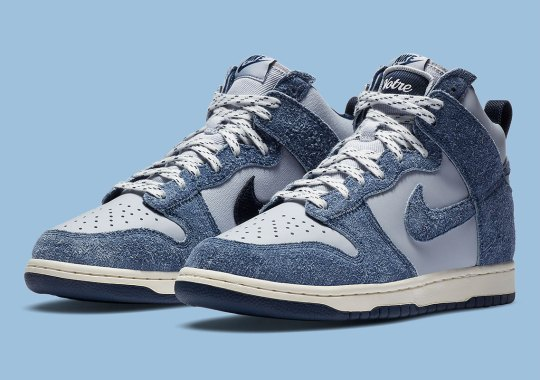 """Official Images Of The Notre x Nike Dunk High """"Blue Void"""""""