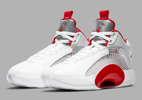 "An Alternate Air Jordan 35 ""Fire Red"" Is Releasing Without Icy Soles"