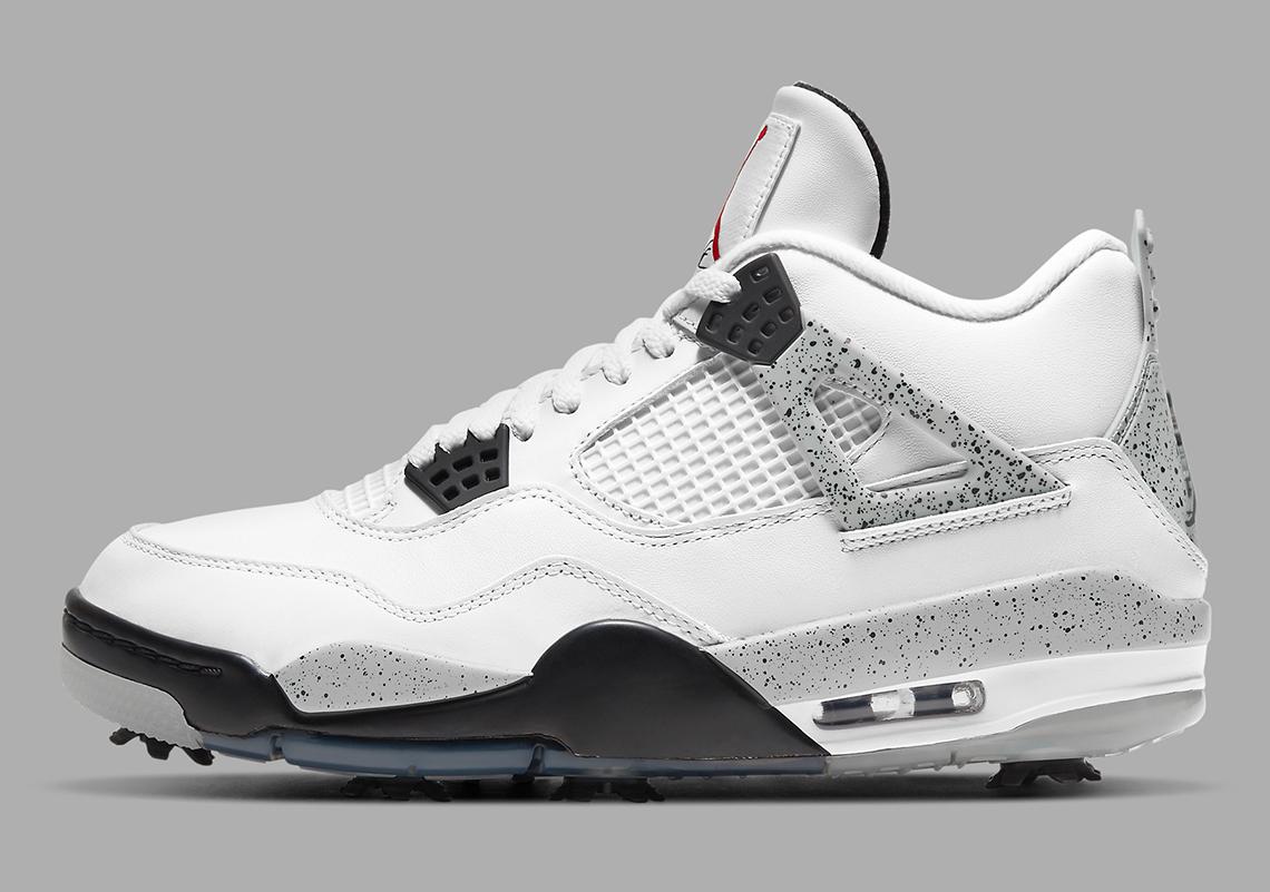 Air Jordan 4 Golf Shoes White Cement CU9981-100 | SneakerNews.com