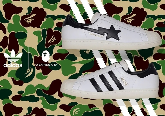 BAPE And The adidas Superstar Continue Storied Partnership With Alternating Logos