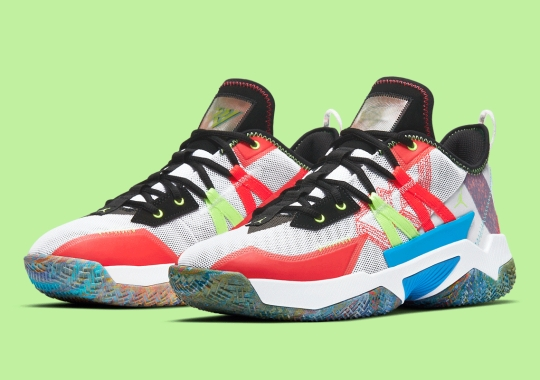 The Jordan Westbrook One Take II Gets Its Own Multi-color Appeal
