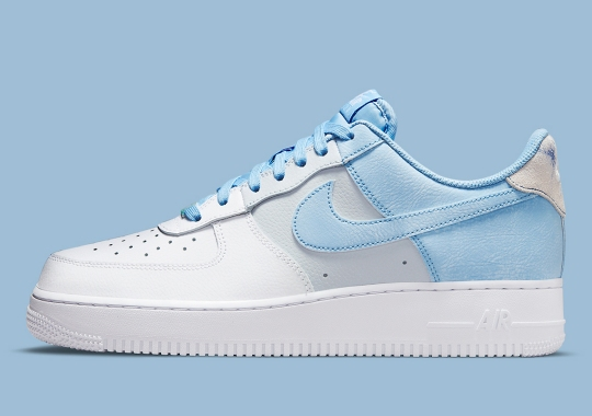 "Nike Returns To Tri-color Style Blocking With The Air Force 1 Low ""Psychic Blue"""