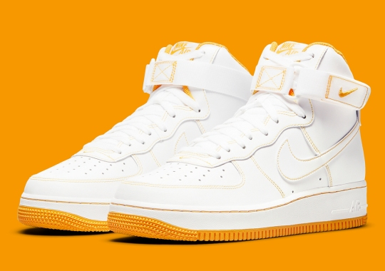 Laser Orange Contrasts This Women's Nike Air Force 1 High