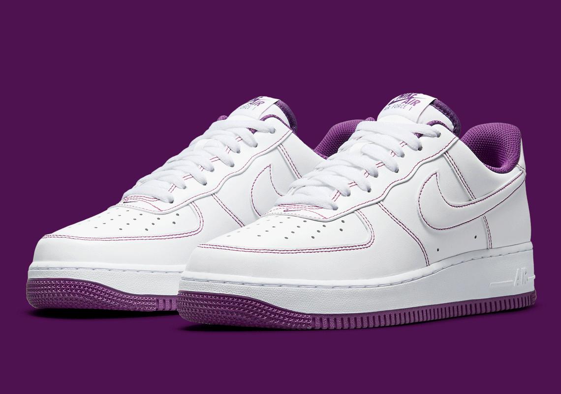 Nike Air Force 1 White Viotech Purple CV1724-105 | SneakerNews.com