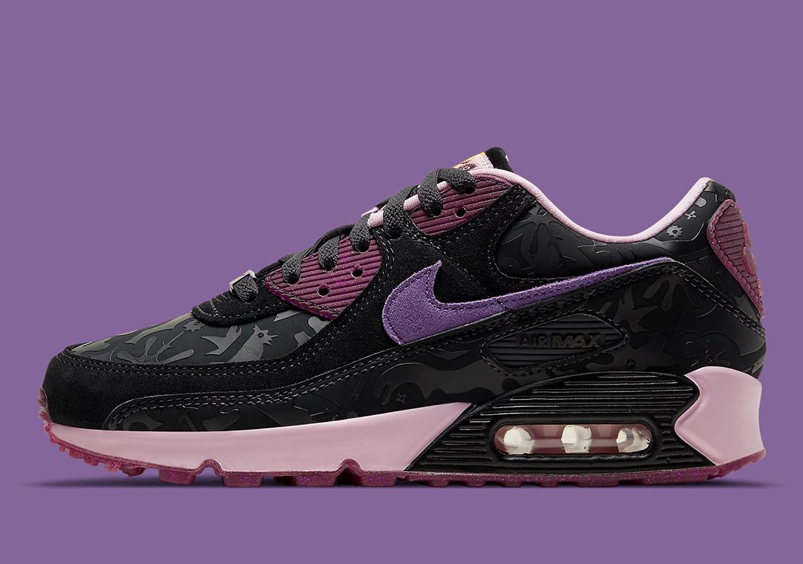 Nike Air Max 90 Noir Arctic Pink Violet DD5517-010 | SneakerNews.com