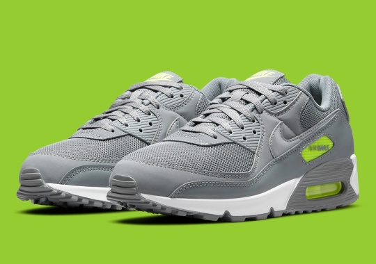 The Nike Air Max 90 Arrives In A Stunning Silver And Neon
