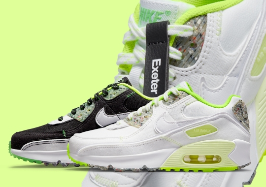 """Nike's """"Exeter Edition"""" Collection Includes This Mismatched Air Max 90 With Recycled Grind"""