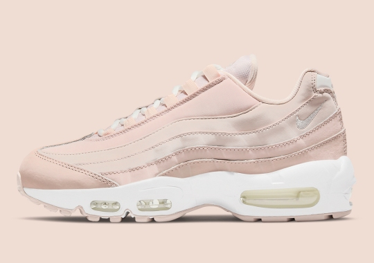"The Nike Air Max 95 ""Shimmer"" Hides The Eyelets By Replacing The Standard Mesh"
