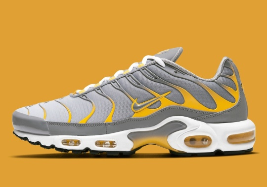 """Nike Blends Muted """"Particle Grey"""" And Bold """"Dark Suplhur"""" On This Air Max Plus"""