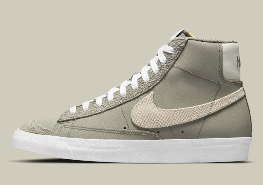 The Nike Blazer Mid '77 Goes Tactical With Canvas Swooshes