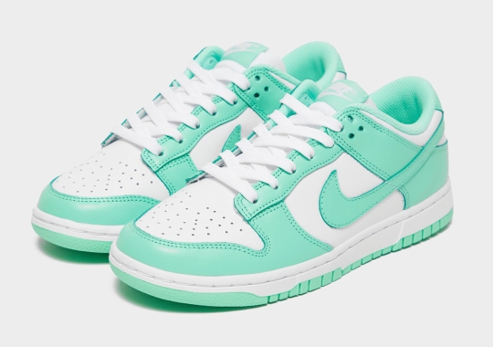 "The Nike Dunk Low Dresses Up In ""Green Glow"" For Spring/Summer"