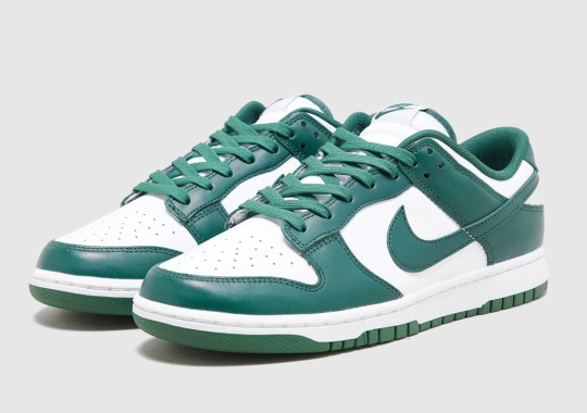 "Nike Dunk Low ""Team Green"" Revealed In Adult Sizes"