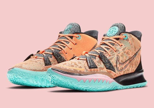"""The Nike Kyrie 7 """"All-Star"""" Joins Sustainable Efforts With Regrind Rubber Accents"""