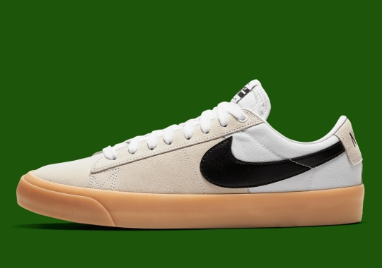 The Nike SB Blazer Low GT Achieves A Two-Toned Upper With Gum Soles