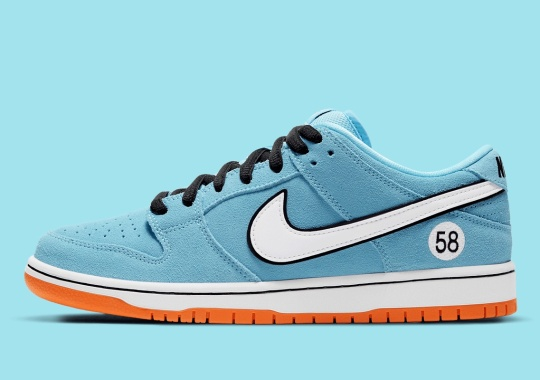 """Official Images Of The Nike SB Dunk Low """"Gulf"""""""