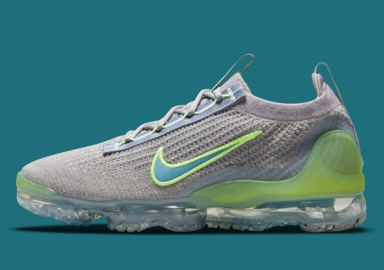 The Nike Vapormax Flyknit 2021 Emerges With Grey Knits And Neon Additions
