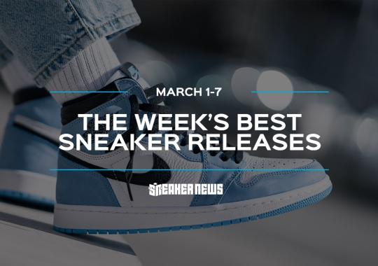 "The Jordan 1 ""University Blue"" And Yeezy 450 Lead This Week's Best Releases"
