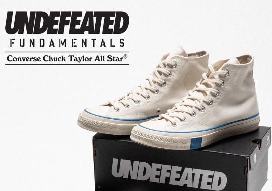 "Undefeated And Converse Stick To The ""FUNDAMENTALS"" With Black And Parchment Chuck 70s"