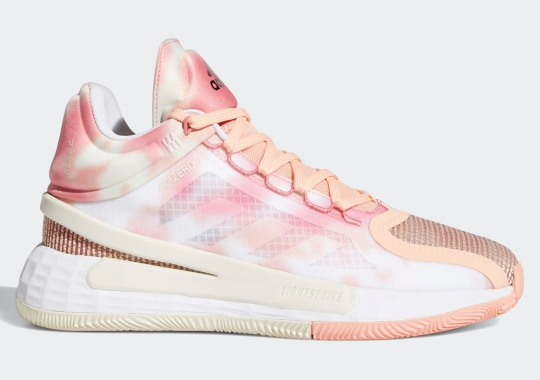 Hazy Pink Patterns Appear On The adidas D Rose 11