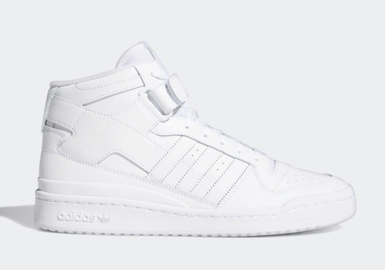 The adidas Forum Mid Arrives In Triple-White Soon