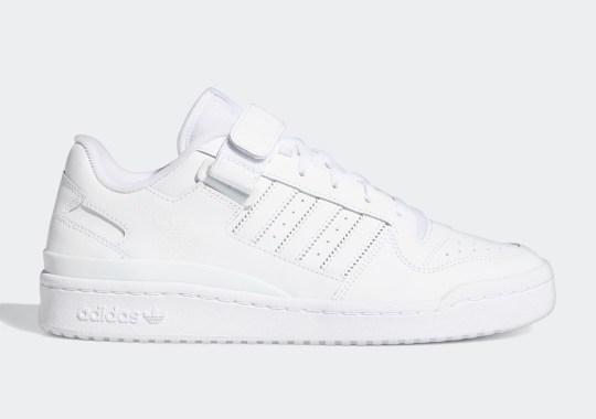Triple White Comes To The adidas Forum Lo