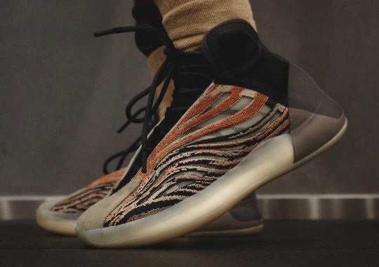 "The adidas Yeezy Quantum ""Flaora"" Infuses Streaks Of Bronze"