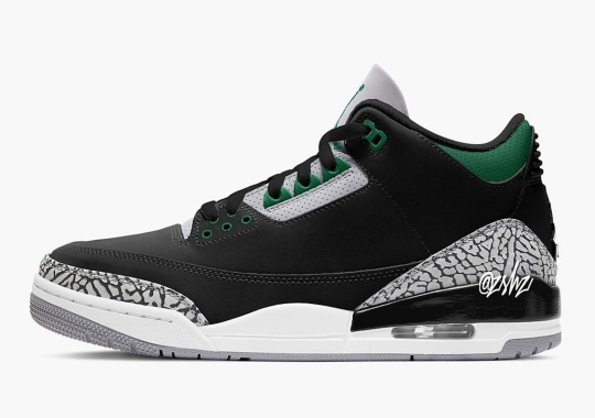 "Air Jordan 3 ""Pine Green"" Releasing In Holiday 2021"