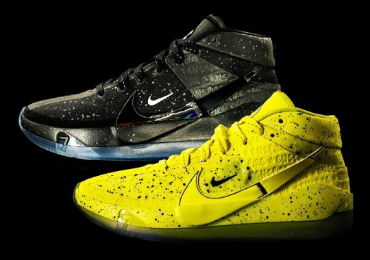 """Enspire And Nike Color Up The KD 13 In """"Black Ice"""" And """"Venom Yellow"""""""