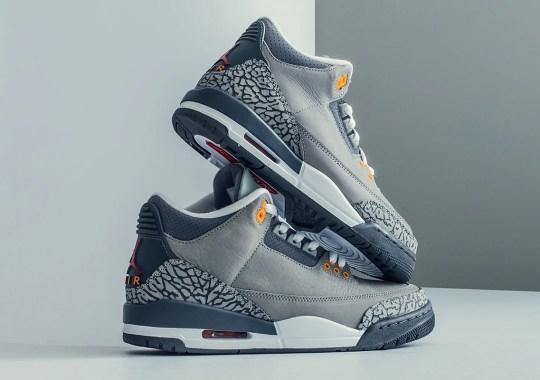 """The Air Jordan 3 """"Cool Grey"""" Releases Tomorrow"""