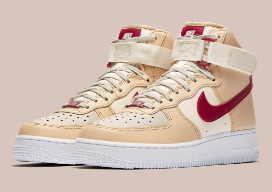 A Color Combo Of The Mars Yard Effect Appear On This Women's Nike Air Force 1 High