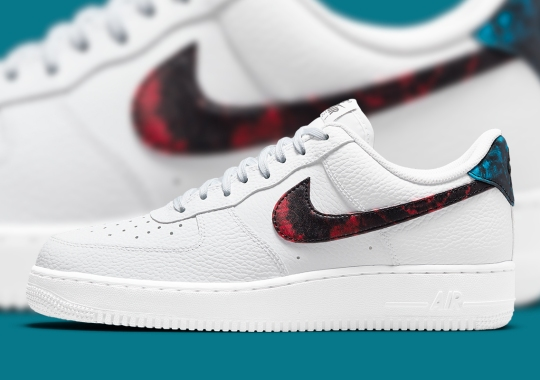 Tie-Dye In Two Tones Appears On The Nike Air Force 1 Low
