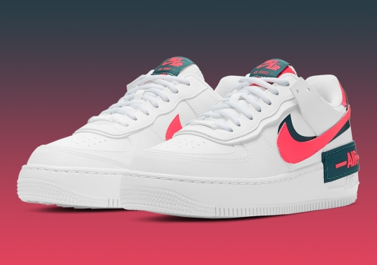 Nike Pairs Up Solar Red And Dark Teal Green On Latest Air Force 1 Shadow