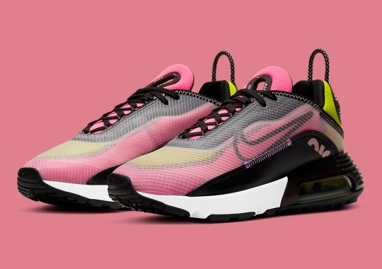 The Nike Air Max 2090 Blends Champagne And Cyber For Latest Women's Offering