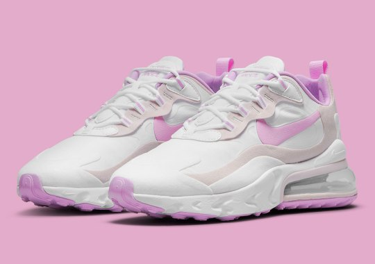 Light Violets Brush This Suede And Leather Women's Nike Air Max 270 React