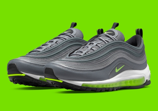 The Nike Air Max 97 Does Its Best 95 Impression With Silver And Neon