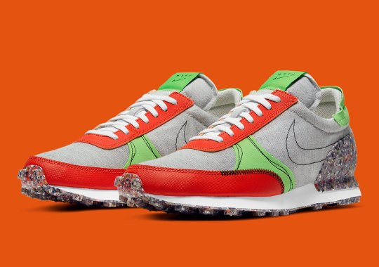 This Nike Daybreak Type Utilizes Recycled Grind Rubber For The Exterior Heel
