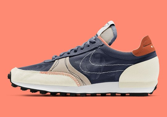 "The Nike Daybreak Type Contrasts Navy With Beiges For New ""Thunder Blue"" Colorway"
